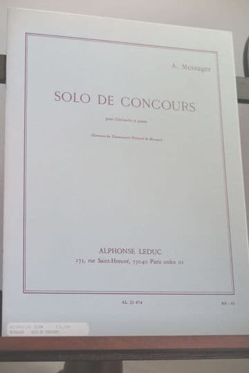 Messager A - Solo de Concours for Clarinet & Piano